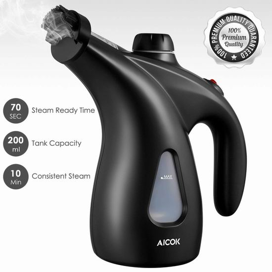 Aicok 200ml 迷你手持式蒸汽挂烫机 25.49加元限量特卖!