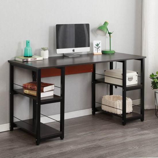 历史新低!Soges DZ012-140-BK-CA 55英寸 时尚电脑桌6折 119加元包邮!