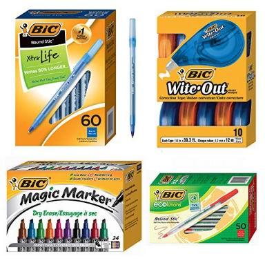 金盒头条:精选 BIC 马克笔、签字笔、原子笔、修正带、笔芯等6.1折起!