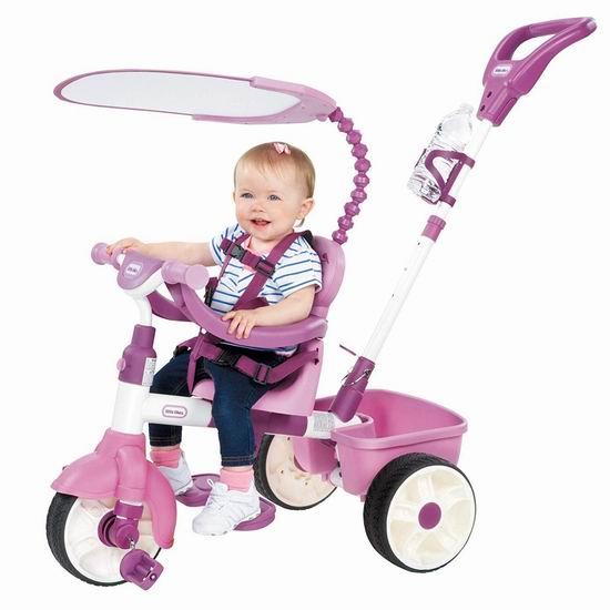 Little Tikes 小泰克 Trike 四合一 粉红儿童三轮车5.9折 76.97加元包邮!2色可选