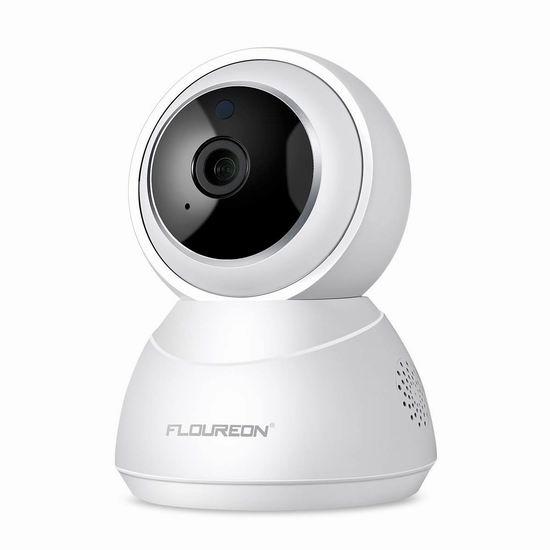 FLOUREON 1080P 小蚁云储存 无线Wi-Fi智能监控摄像头 49.99加元包邮!