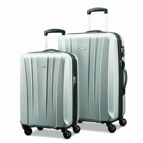 Samsonite 新秀丽 Pulse DLX 20/28寸 银色轻质拉杆行李箱2件套3折 180.58加元包邮!