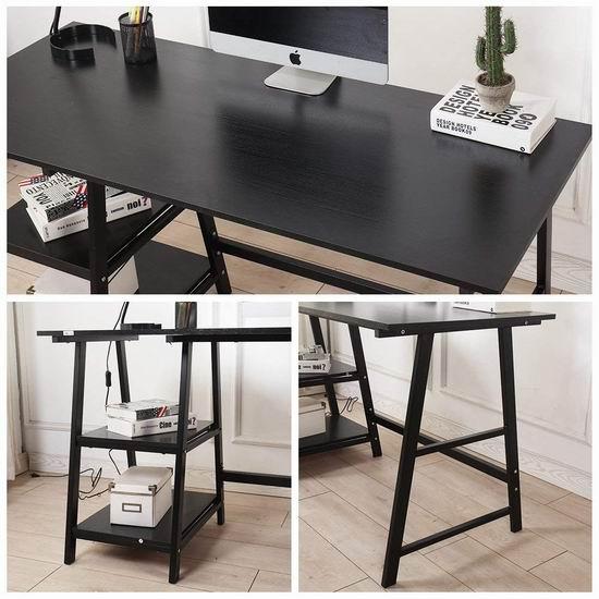 DlandHome 47英寸/55英寸 时尚电脑桌/书桌 75-91加元限量特卖并包邮!