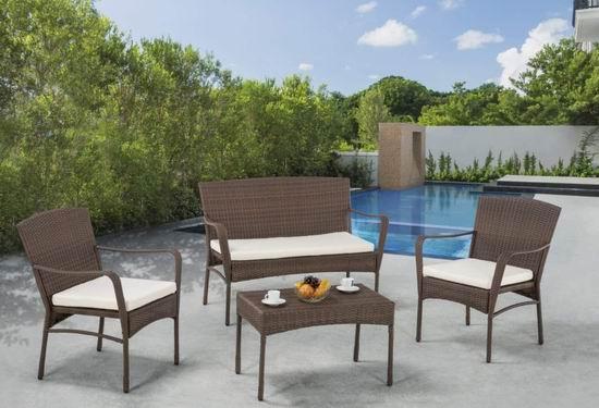 历史新低!W Unlimited Leisure Collection 仿藤条编织 庭院软垫沙发+茶几4件套2.9折 359.02加元包邮!
