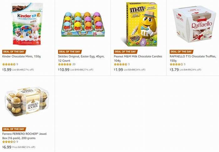 金盒头条:精选 Ferrero、Kinder、Skittles 等品牌复活节巧克力6折起,低至1.99加元!