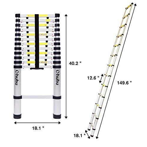 销量冠军!Ohuhu EN131 12.5英尺便携式轻质铝合金伸缩梯 114.99加元包邮!