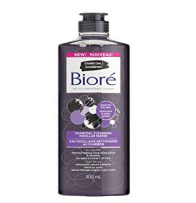 Bioré 碧柔温和木炭洁面卸妆水 300毫升 7.97加元,原价 14.99加元