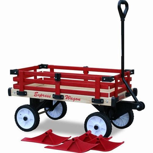 精选2款 MILLSIDE红色冬夏两用木质雪橇拖车 6折  83.97加元起+包邮!