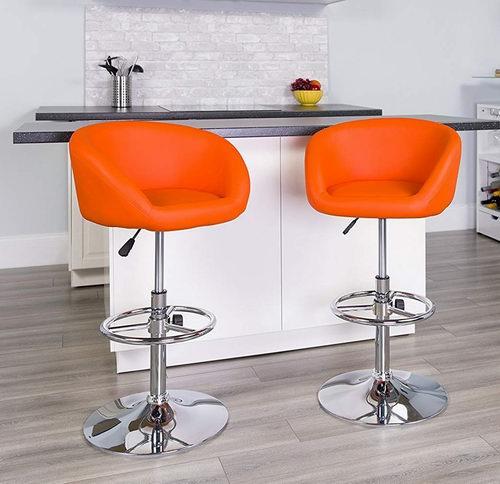 Flash Furniture CH-TC3-1066L-ORG-GG可调节高度时尚吧椅 99.49加元,原价 166.12加元,包邮