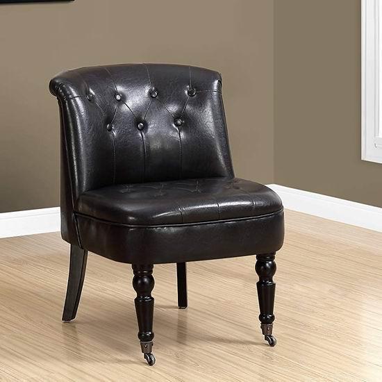 历史新低!Monarch Specialties Accent 人造革复古单人沙发5.2折 179.97加元包邮!
