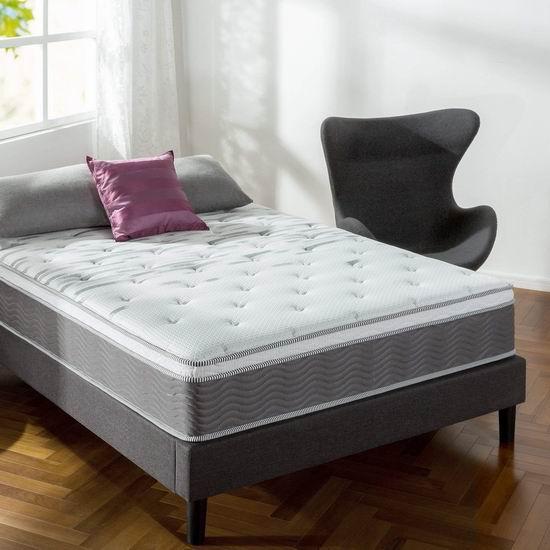 历史新低!Zinus Performance Plus 12英寸 Full 超硬弹簧床垫3.7折 187加元包邮!