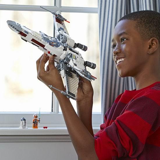 历史新低!LEGO 乐高 75218  星球大战 经典战役版 X-翼星际战机(730pcs)7.5折 74.98加元包邮!