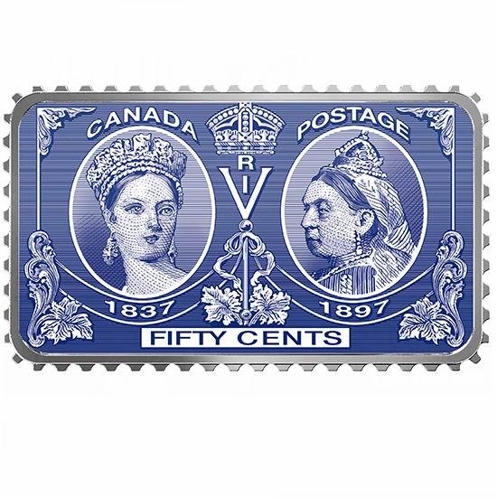 新品上市!维多利亚女王诞辰200周年 纯银邮票纪念币 139.95加元包邮!