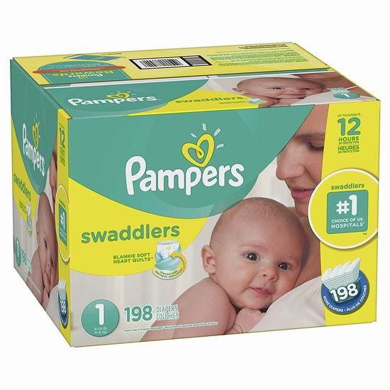 历史新低!Pampers 帮宝适 Swaddlers 婴幼儿尿不湿/纸尿裤(Size 1-6) 25.47加元包邮!Prime会员降为20.98加元包邮!