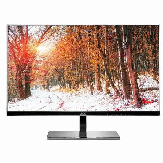 历史新低!AOC i2777fq 27英寸 Class IPS LED 全高清显示器4.8折 180.25加元包邮!
