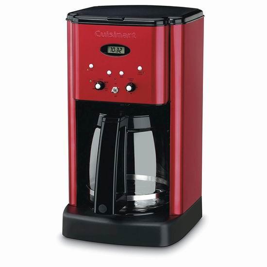 白菜价!历史新低!Cuisinart DCC-1200MR 12杯量 可编程咖啡机3.6折 58.49加元包邮!