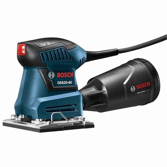 金盒头条:近史低价!Bosch 博世 GSS20-40 电磨砂光机5.5折 52.98加元包邮!