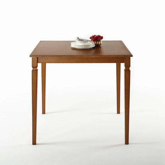 白菜价!历史新低!Zinus Counter 方型高脚实木餐桌1.5折 43.58加元包邮!