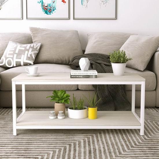 金盒头条:Soges 39.3英寸 多用途 双层时尚茶几/电视柜 74加元包邮!2色可选!