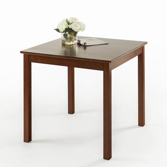 白菜速抢!历史新低!Zinus Espresso 实木餐桌1.6折 48.66加元包邮!