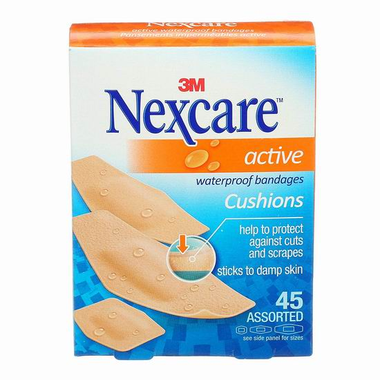 3M Nexcare Active Foam 创可贴(45张)6.7折 3.27加元!