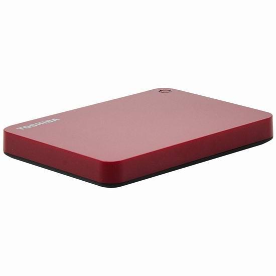 金盒头条:历史新低!Toshiba 东芝 Canvio Advance 1TB 超便携移动硬盘 57.99加元包邮!2色可选!