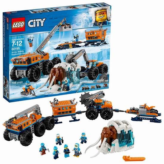 LEGO 乐高 60195 城市系列 北极探索移动基地(786pcs)5.9折 89加元包邮!