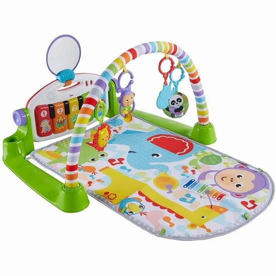 历史新低!Fisher-Price 费雪 Kick n Play 豪华婴幼儿小钢琴 爬行毯/游戏垫6折 37.99加元包邮!