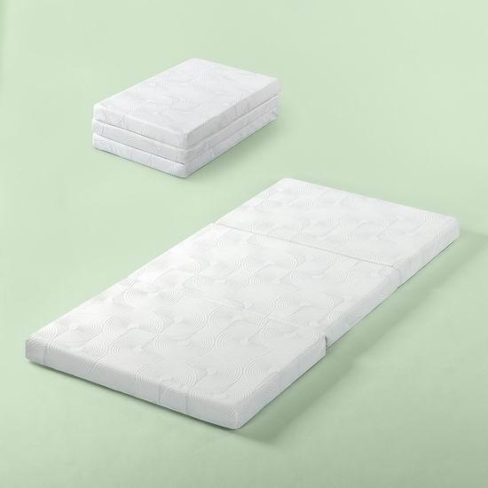 历史新低!Zinus 3英寸/5英寸 三折式 凝胶记忆海绵Twin床垫 73.58-91.64加元包邮!