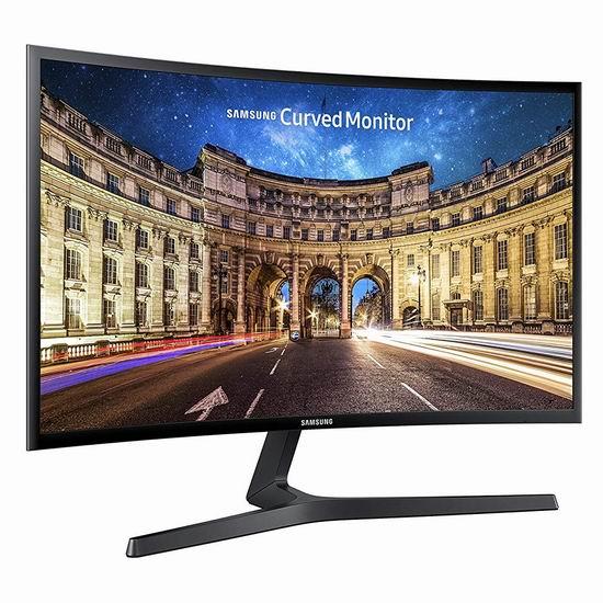 历史新低!Samsung 三星 LC27F396FHNXZA 27英寸 曲面屏 超薄显示器6折 218加元包邮!
