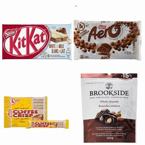 巧克力甜品控,开来看看!精选 Nestlé、Brookside、 Hershey's等品牌巧克力 7折 1.4加元起特卖!