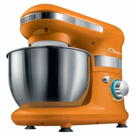 白菜速抢!历史新低!Sencor STM 3013OR-NAA1 4.2夸脱 立式多功能搅拌机/厨师机3折 60.92加元包邮!