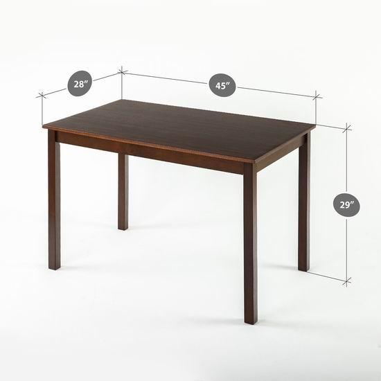 白菜速抢!历史新低!Zinus Espresso Wood 实木长型餐桌1.8折 54.98加元包邮!