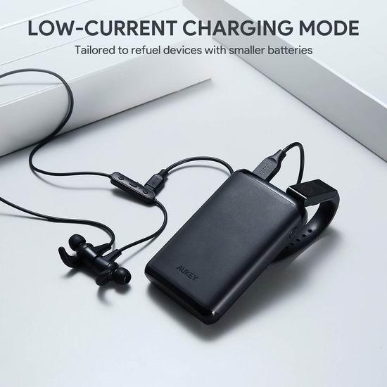 手慢无!历史新低!Aukey 10000mAh 双口快速充电宝 17.49加元限量特卖!支持低电流充电模式!