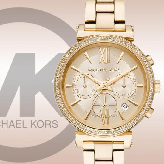 历史新低!Michael Kors MK6559 Bradshaw 金色水晶腕表/手表4.1折 148.99加元包邮!