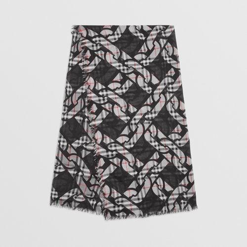 Burberry 巴宝莉 复古羊毛混纺围巾 330加元,原价 540加元,包邮