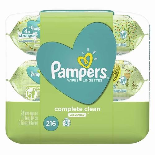 Pampers 帮宝适低过敏婴儿湿巾 216张 5.54加元,原价 8.57加元