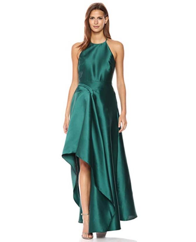 Badgley Mischka Sculptural 缎面礼服/连衣裙 297.59加元(0码),原价 671.74加元,包邮