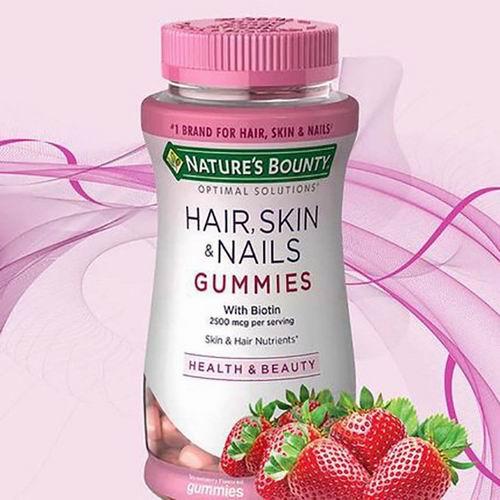 Nature's Bounty 自然之宝 护发/护甲/防脱发 草莓味软糖(165粒)3.3折 7.97加元!