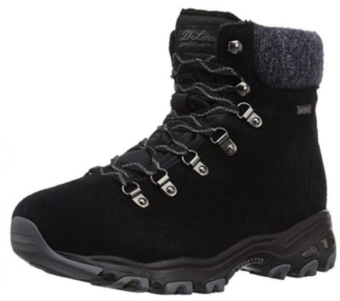 Skechers D'Lites 女款雪地靴 31.97加元(8.5码),原价 110.5加元