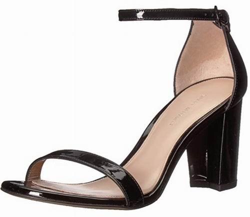 Stuart Weitzman Nearlynude 粗跟一字带凉鞋 86.52加元(6码),原价 517.4加元,包邮