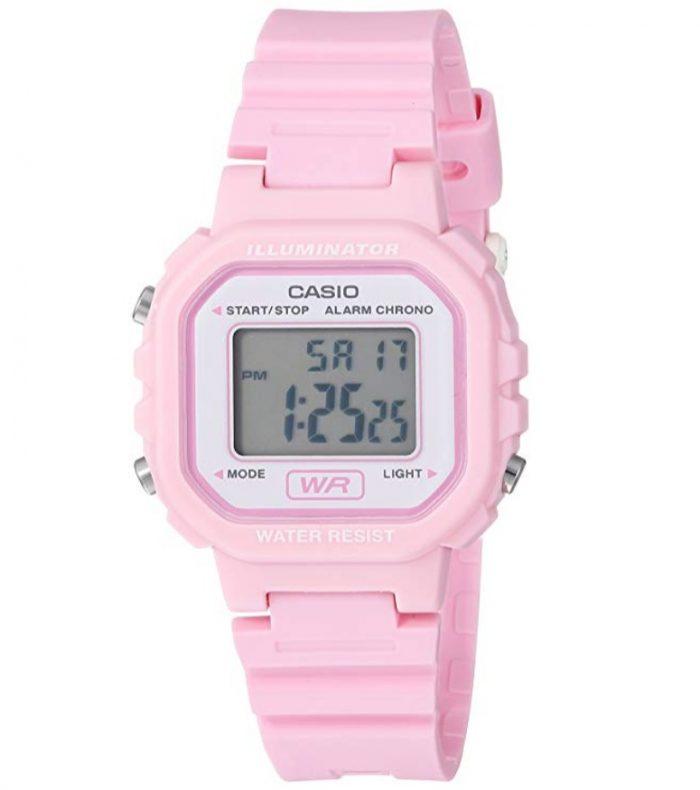 历史新低!Casio 卡西欧 LA20WH-4A1 运动电子手表 粉色 15.05加元,原价 22.68加元