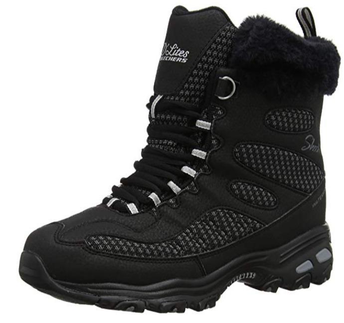 Skechers D'lites女士防水雪地靴 31.33加元(5码),原价 58.95加元