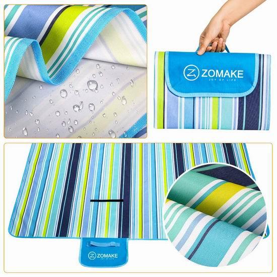 ZOMAKE 便携式户外防水野餐垫/睡垫 15.84加元限量特卖!