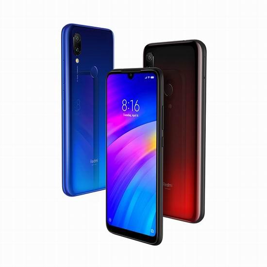 新品大促!Xiaomi 小米 Redmi 红米7 6.26吋 水滴全面屏 智能手机(3GB/32GB) 162.87加元包邮!