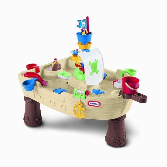历史新低!Little Tikes 小泰克 Anchors Away Pirate Ship 海盗船 儿童戏水桌4.5折 49.95加元包邮!