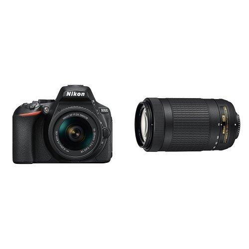 历史新低!NIKON 尼康 D5600 单反套机(AF-P DX 尼克尔 18-55mm f/3.5-5.6G VR + 70-300mm f/4.5-6.3G ED 双镜头) 899加元包邮!