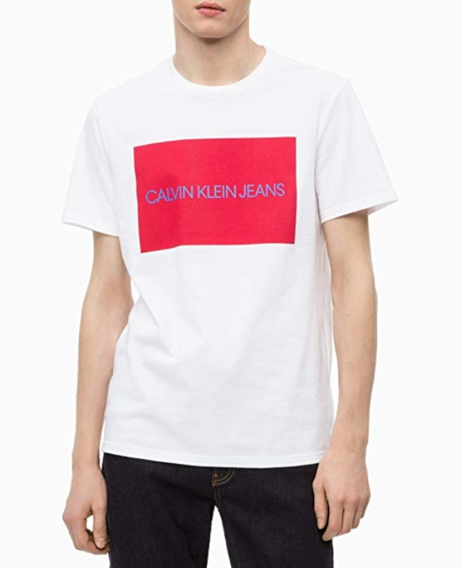 Calvin Klein Institutional 男士Logo T恤 13.26加元,原价 21.69加元
