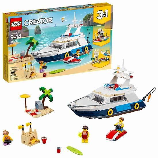 历史新低!LEGO 乐高 31083 创意百变系列 三合一 巡航大历险(597pcs)6.1折 48.98加元包邮!