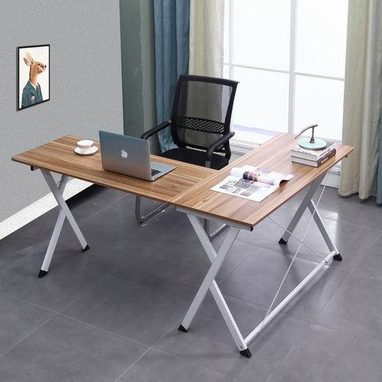 金盒头条:Soges L型时尚电脑桌/办公桌 111加元包邮!3色可选!